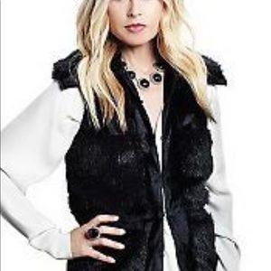 Rachel Zoe Luxe Faux Fur Vest- Black